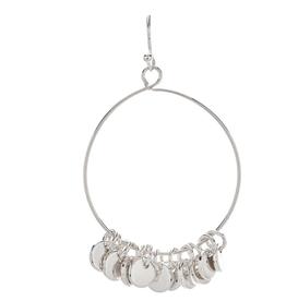 Rain Jewelry Circle Tassel Silver Earring
