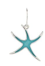 Rain Jewelry Blue Starfish Silver Earring