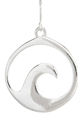 Rain Jewelry Wave Round Earring silver