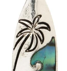Rain Jewelry Palm Tree Scene Silver +Rose Gold earring