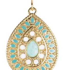 Rain Jewelry Mint Ornate Drop earring