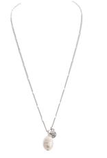 Rain Jewelry Single Fresh Water Pearl Drop Necklace silver