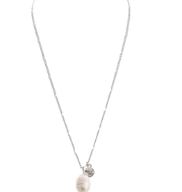 Rain Jewelry Single Fresh Water Pearl Drop Necklace silver