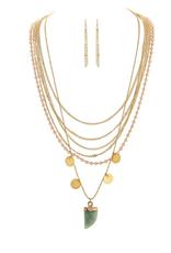 Rain Jewelry Multi Layer Stone Drop Necklace