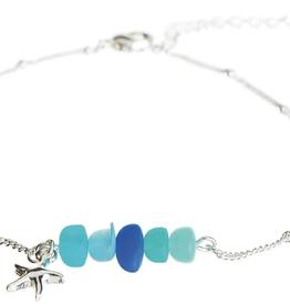 Rain Jewelry Blue Sea Gem Starfish anklet