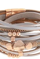 Rain Jewelry Leather Wrap Magnetic Bracelet