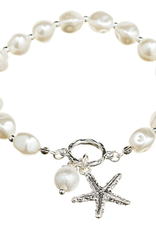 Rain Jewelry Faux Pearl Starfish Bracelet