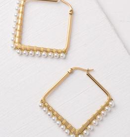 Starfish Project Kayla White Gold Hoop Earrings