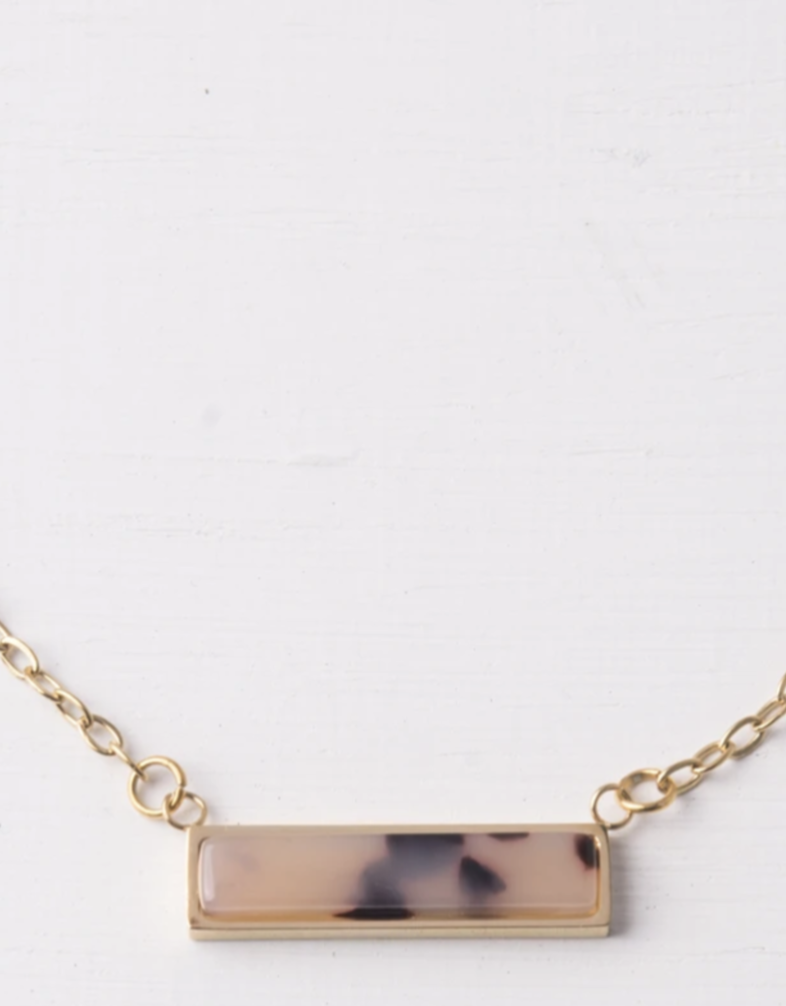 Ada Brown Resin necklace