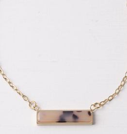 Ada Brown Resin necklace