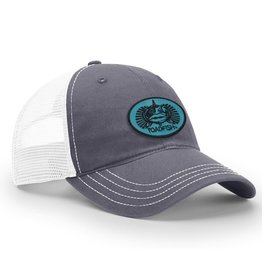 Toadfish Unstructured Teal Toadfish Patch hat - navy front/white mesh back
