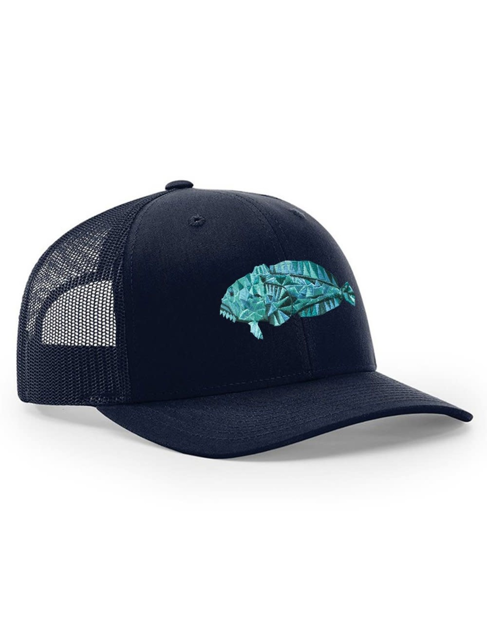 Toadfish Structured Snapback - Navy on Navy - Toadfish embroidery