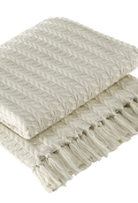 Cream Cable Throw