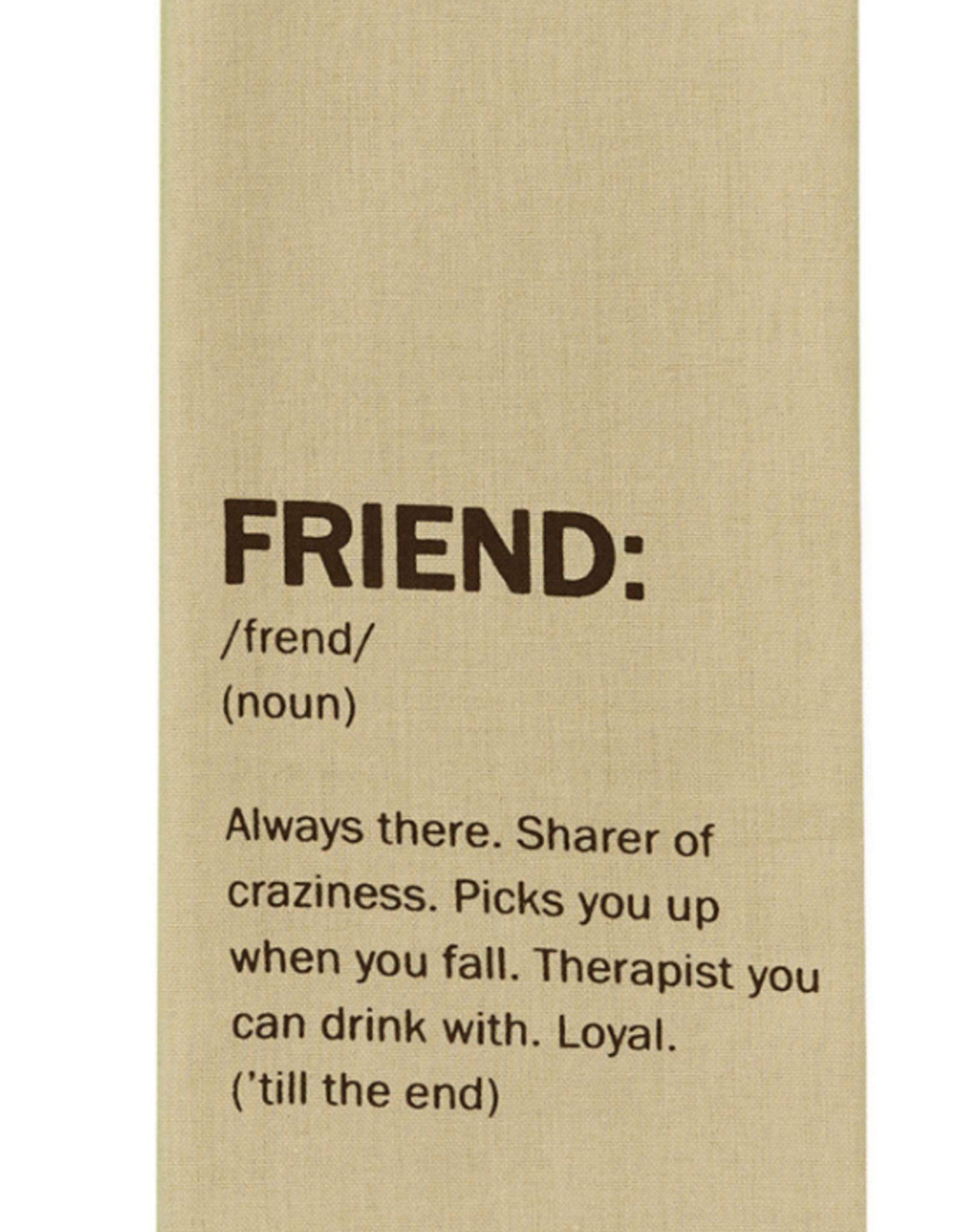 """Friend"" Definition Dish Towel"