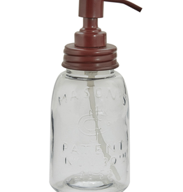 Mason Jar Dispenser - Red