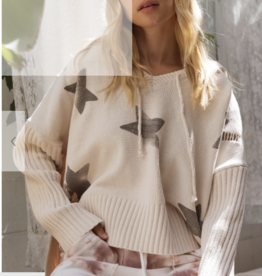 Almond and Black Star Sweater