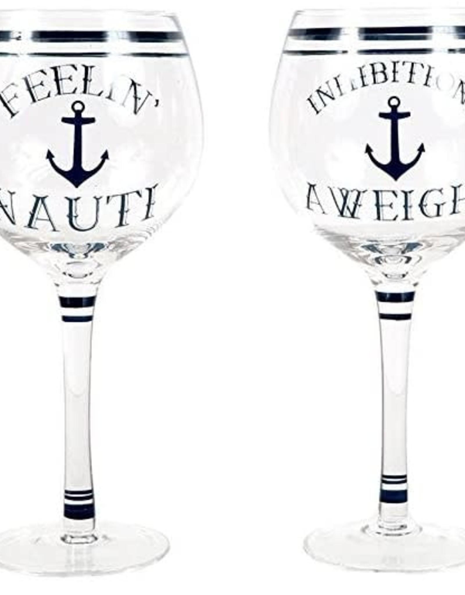 dei Nauti Sayings Wine Glass