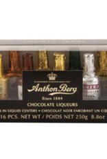 ANTHON BERG CHOCOLATES WITH LIQUEUR, 16-PIECE SET