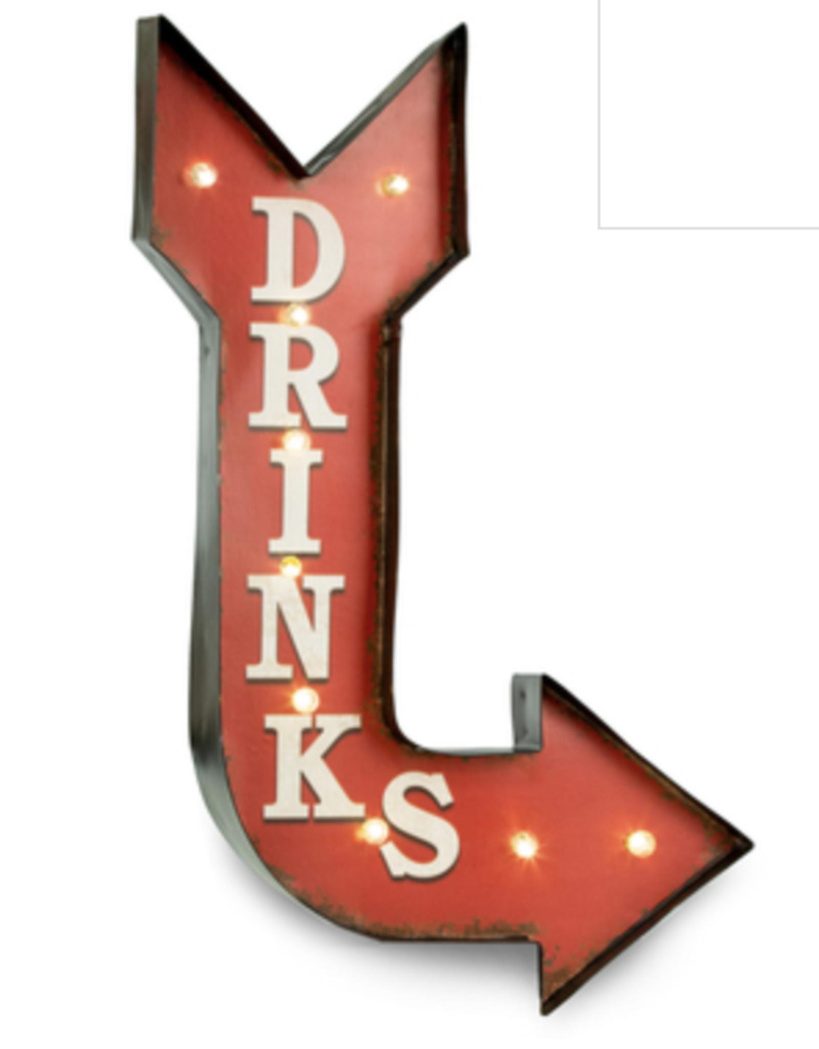 "Bey-Berk ""Drinks"" sign w/Lights"