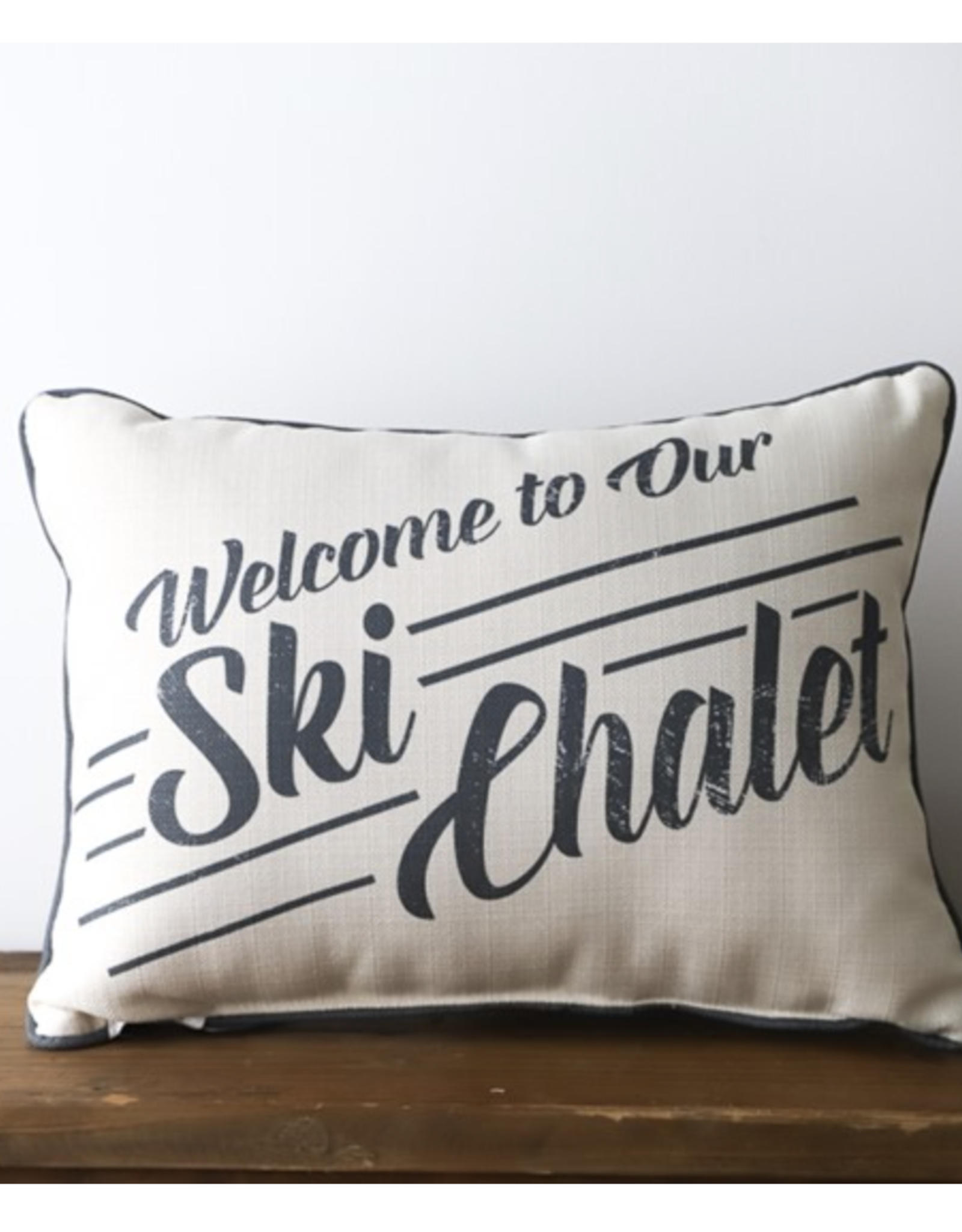 Welcome to our ski chalet pillow