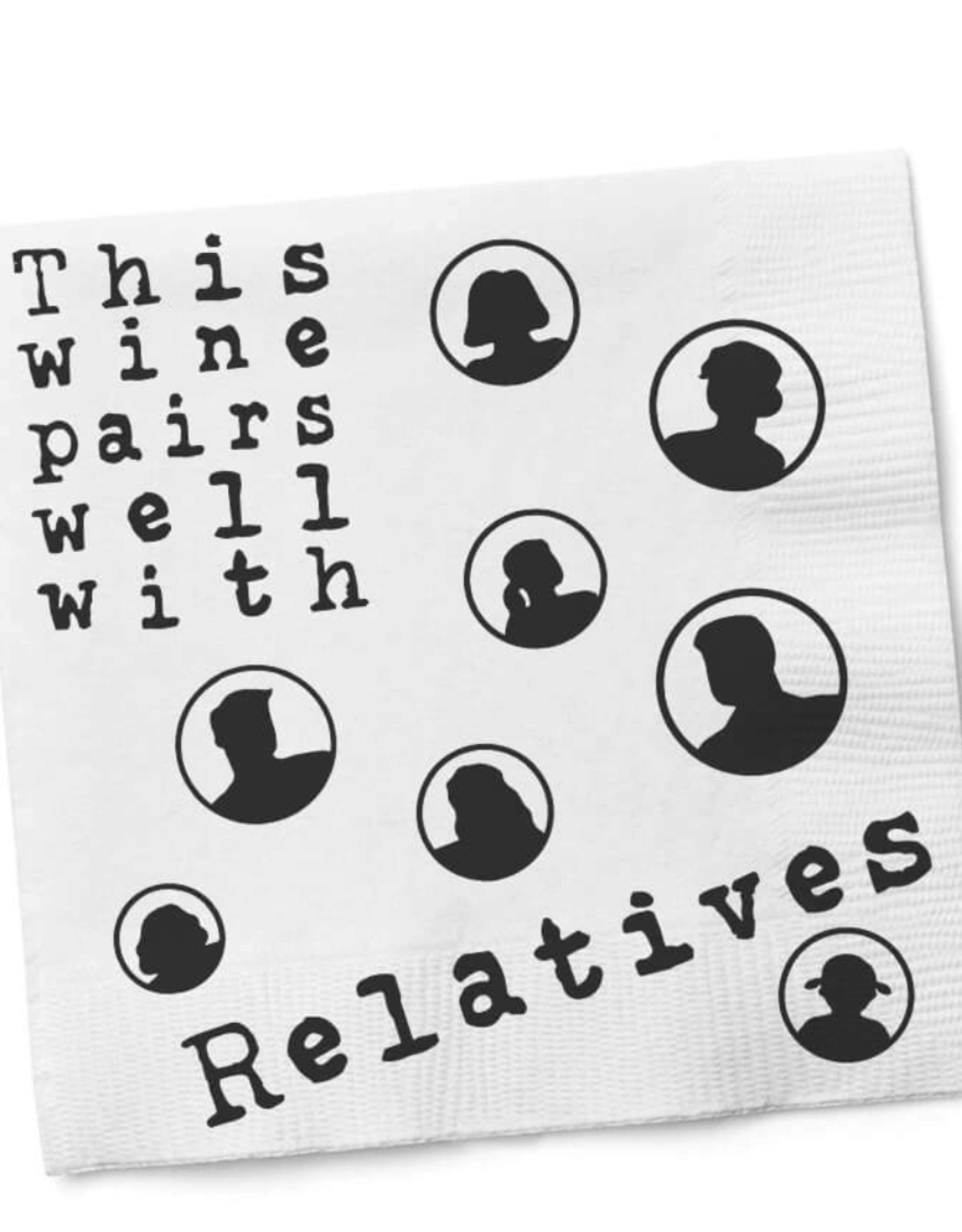 """""""This Wine Pairs Well"""" Cocktail Napkins"""