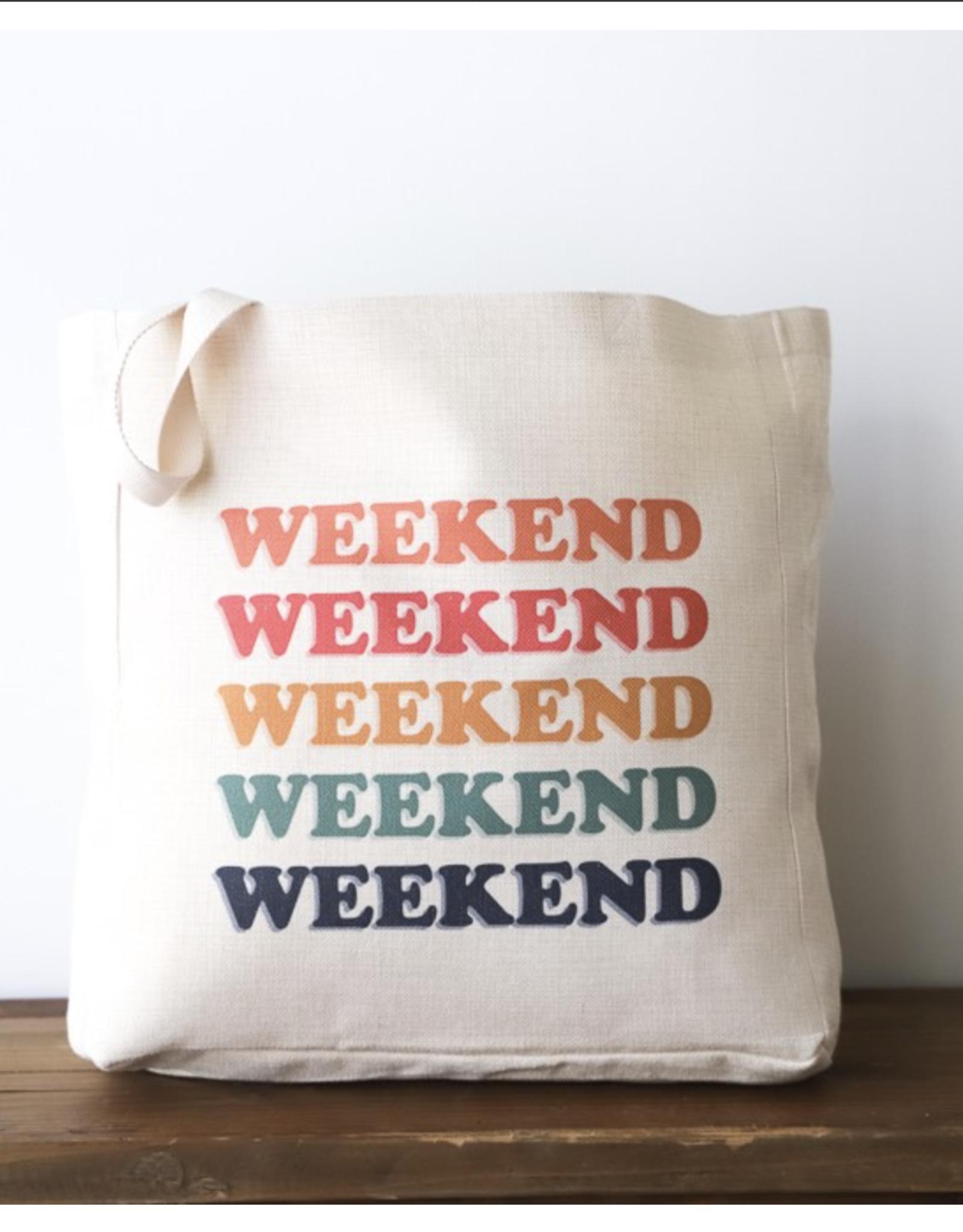 Weekend Canvas Tote Bag