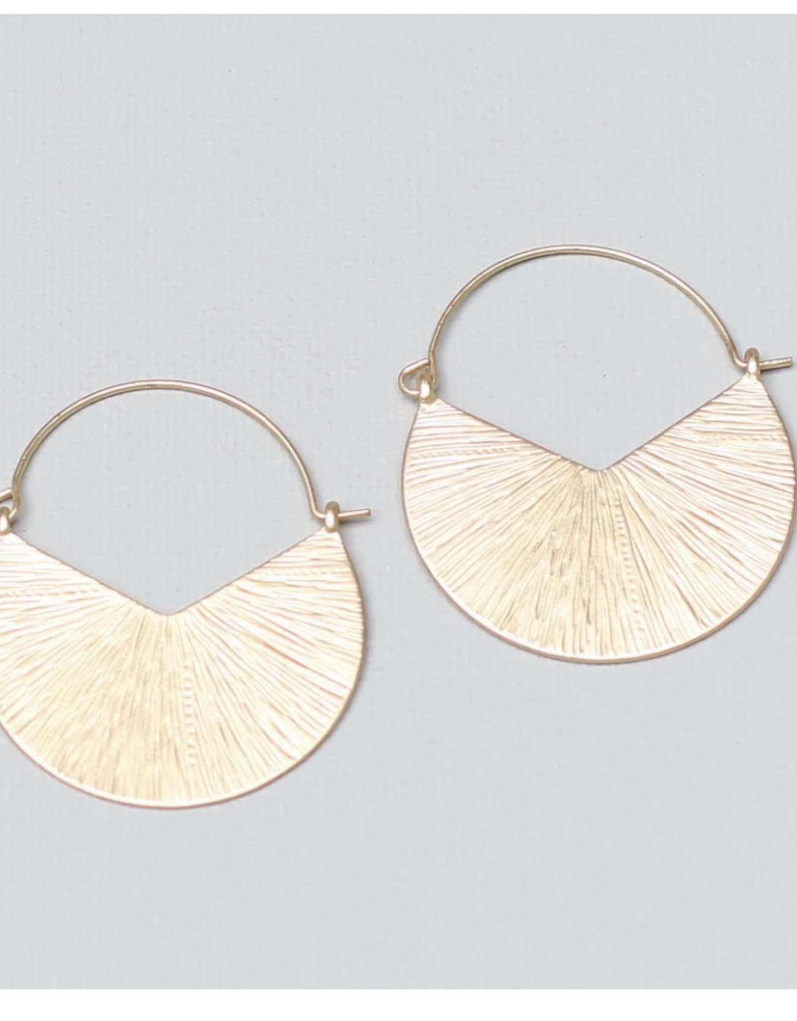 Michelle McDowell Gold Camilia earrings