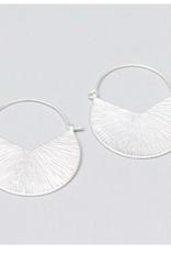 Michelle McDowell Silver Camilia earrings