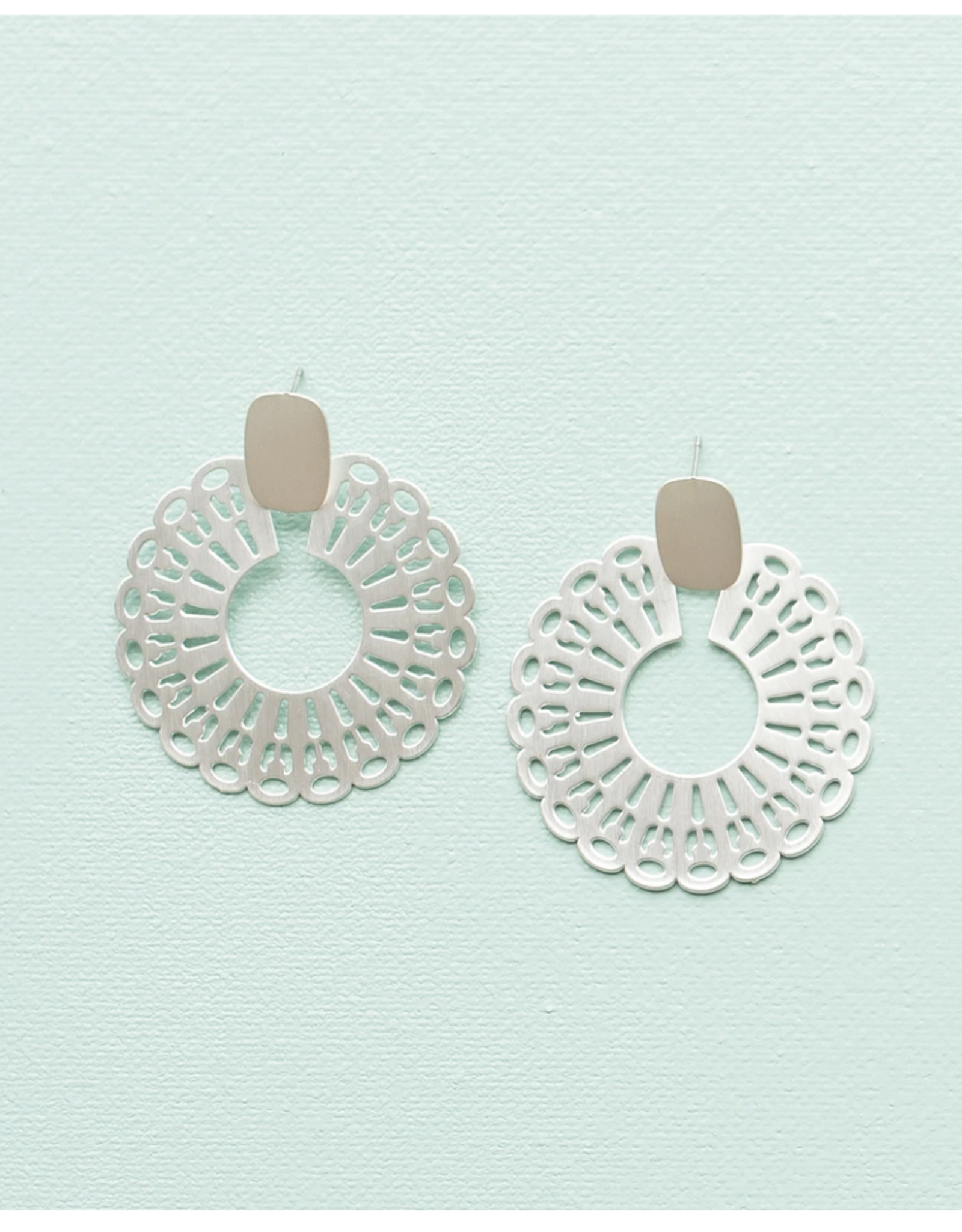 Michelle McDowell Brandi Silver Earrings