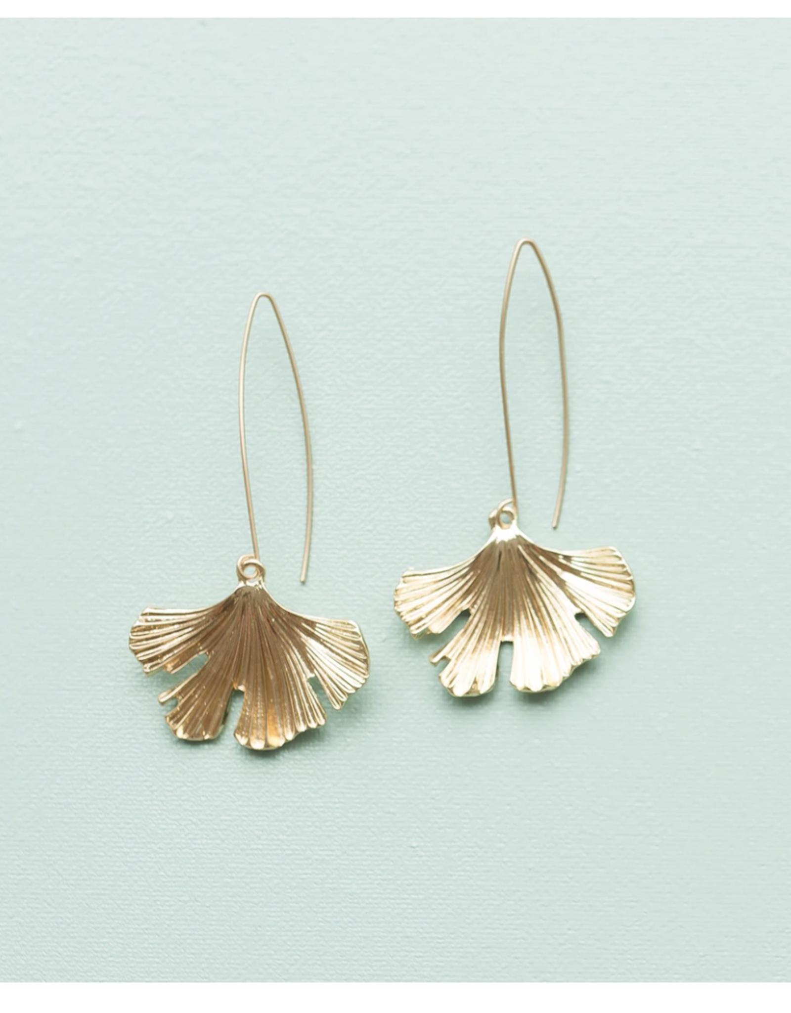 Michelle McDowell jessa gold earrings