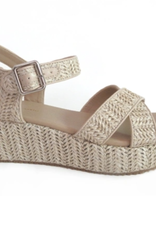 Michelle McDowell Wedge Lyla Straw Natural