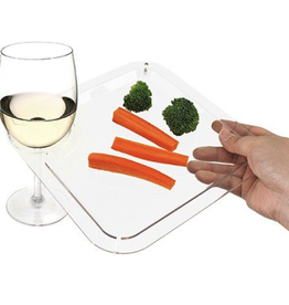 Clear Appetizer Cocktail Plate