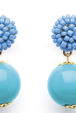 fornash Seed Bead Turquoise Candy Earring peri