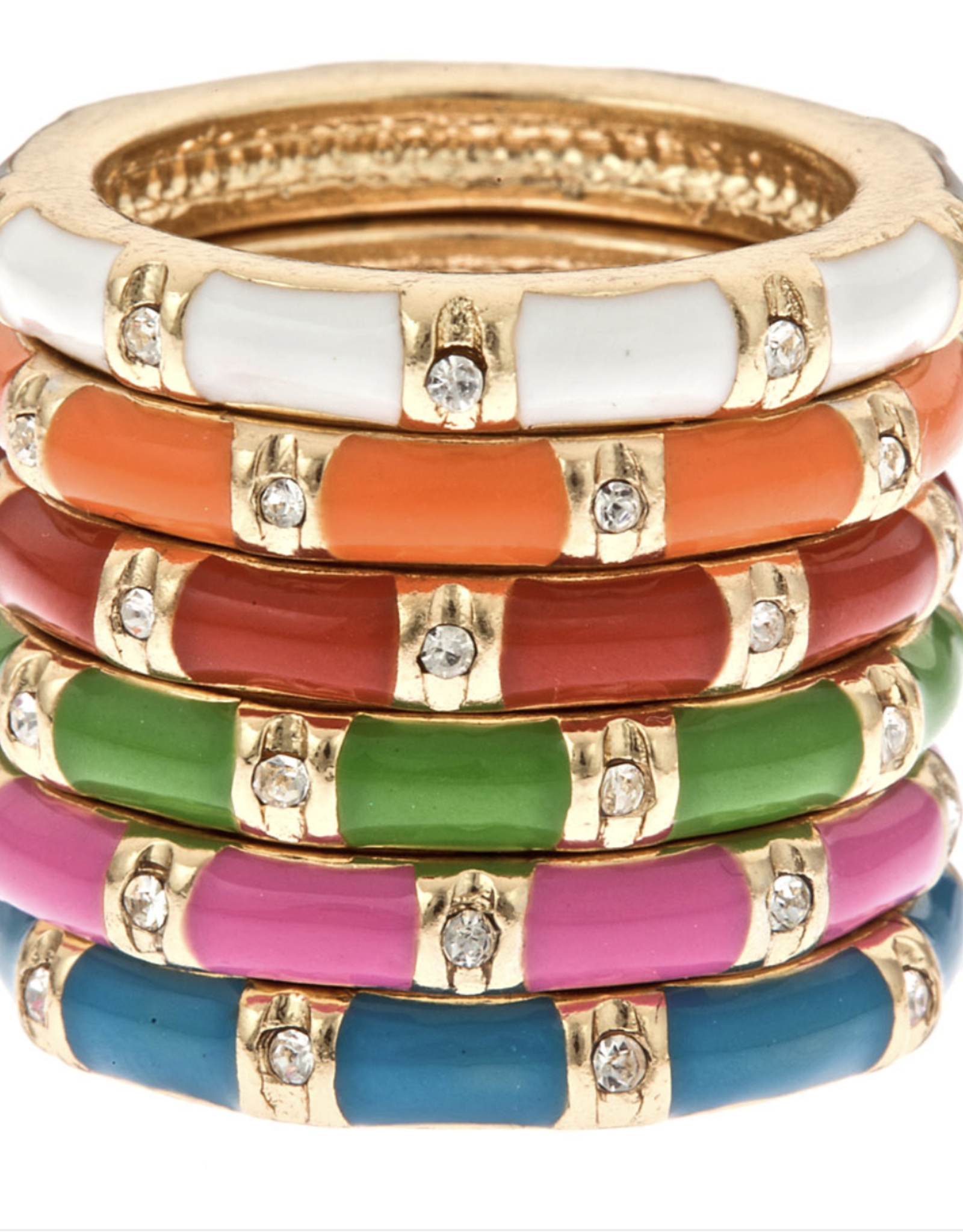 fornash Rainbow stackable rings