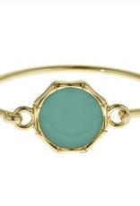 fornash Monogram plain bamboo bracelet-aqua