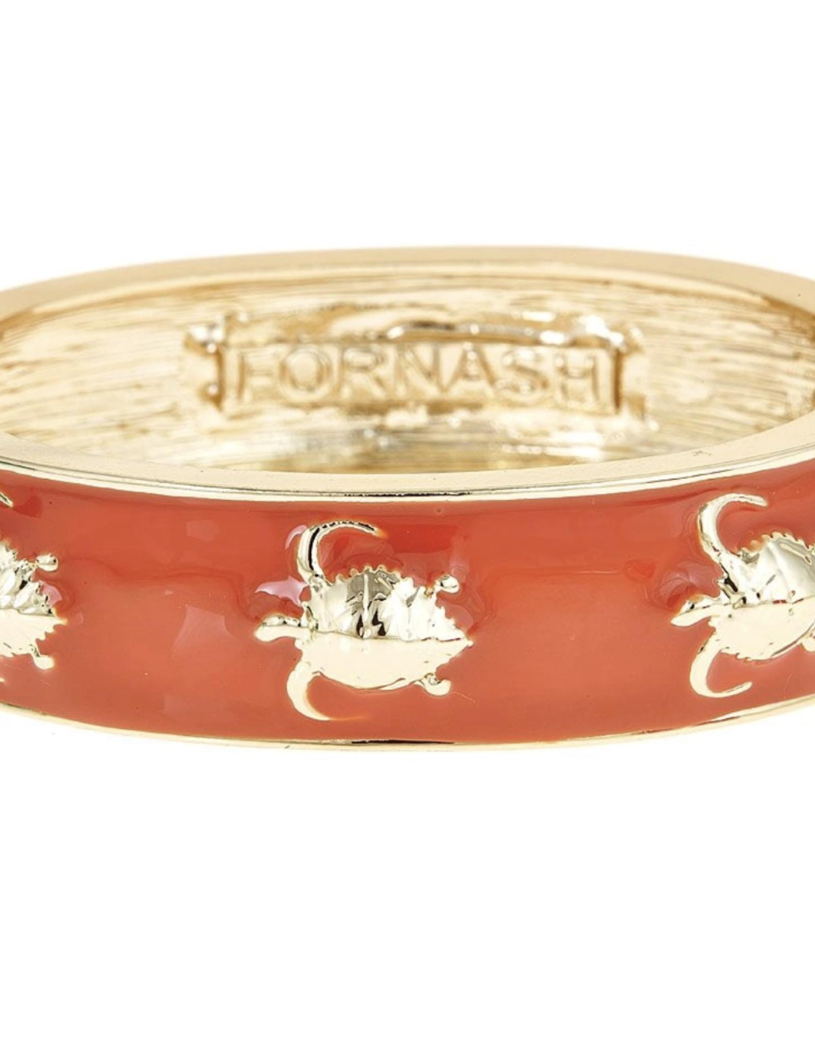 fornash Gold/Orange Turtle Bracelet