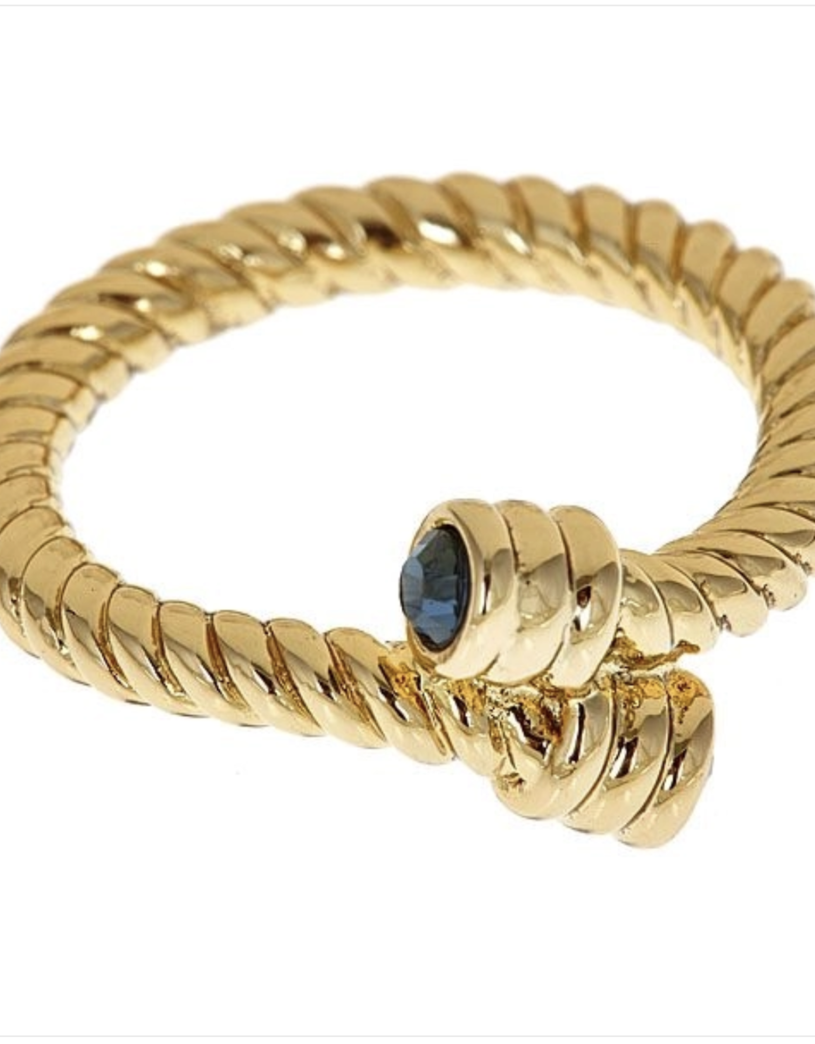 fornash Erin gold/blue ring size 6