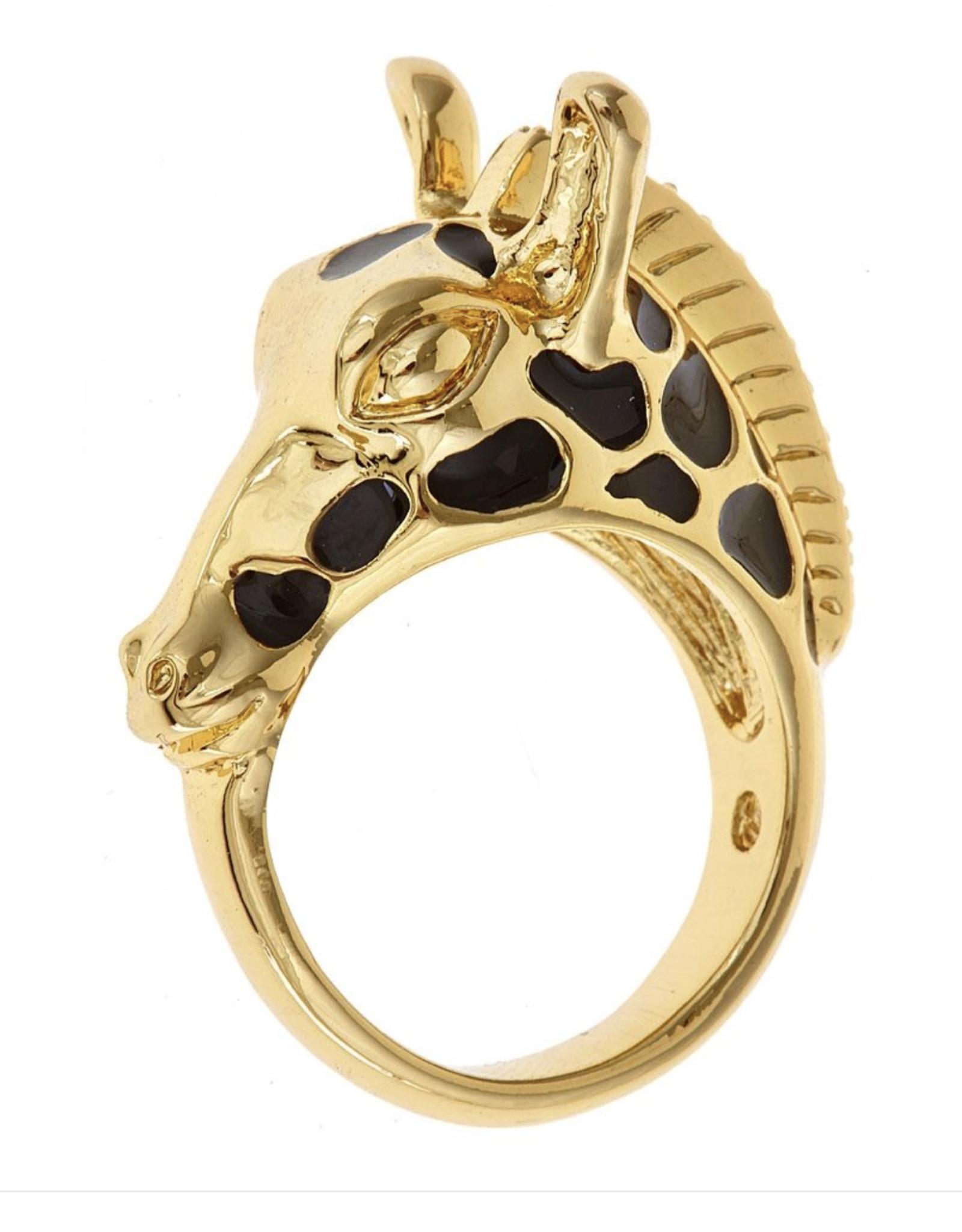 fornash Black gigi giraffe ring size 7