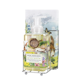 Michel Design Works Bunny Hollow Foaming Soap/Napkin Set