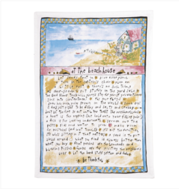 At the beach house kitchen towel