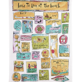 How to live at the beach kitchen towel
