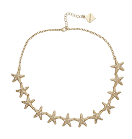 fornash Brushed Gold Boca Necklace