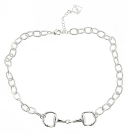 fornash Horsebit Necklace-silver