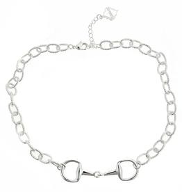 fornash Horsebit Necklace-silver