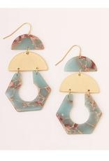 AquaTerra/Gold Cutout Earring