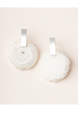 White Quartz/Silver Energy Stone Earring
