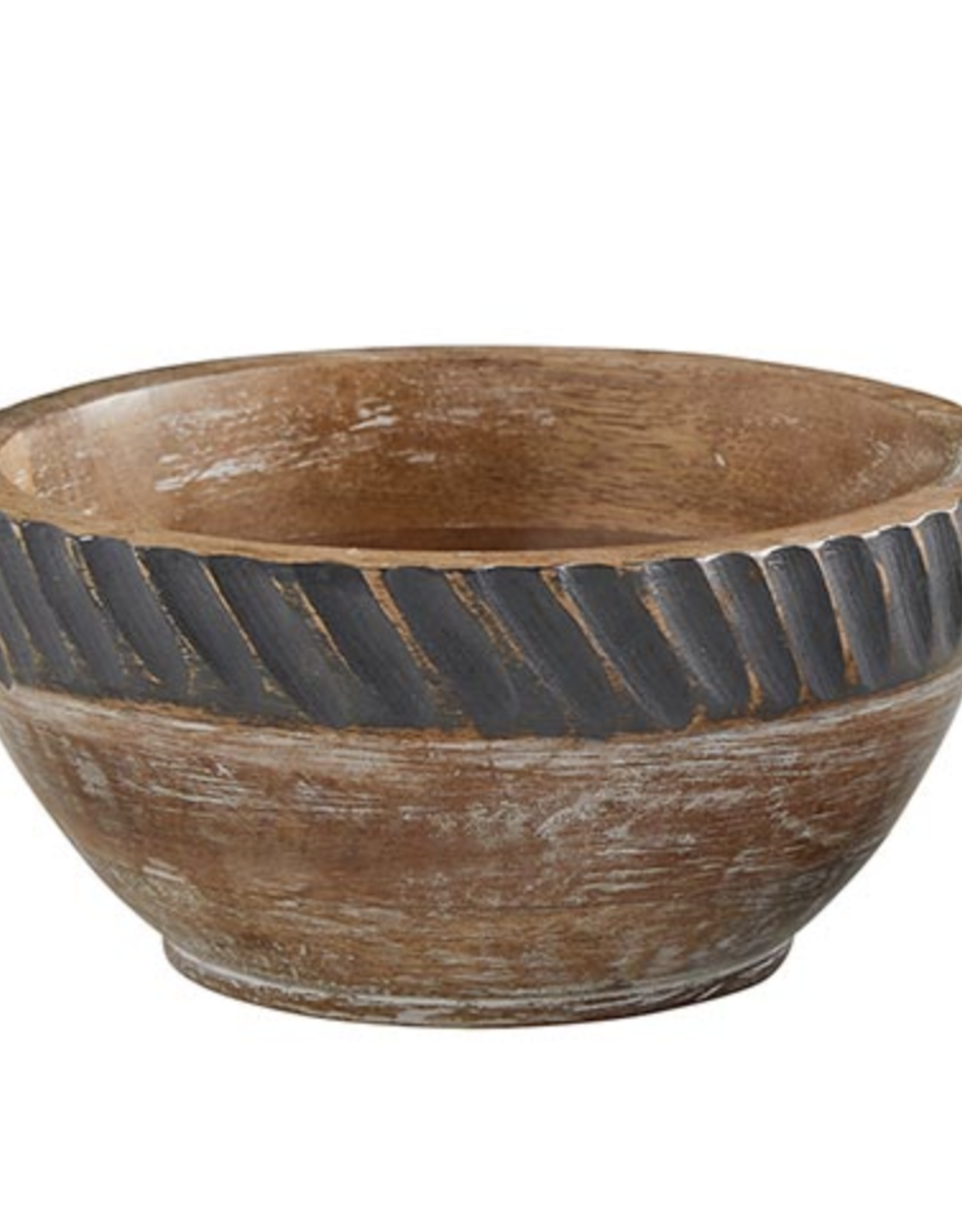 47 &Main Carved Wooden Bowl -large