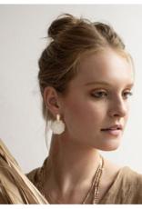 Stone Slice Rose Quartz Earrings