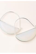 Stone Prism Hoop opalite/silver earring
