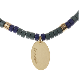Stone Intention Bracelet-Labradorite/Gold